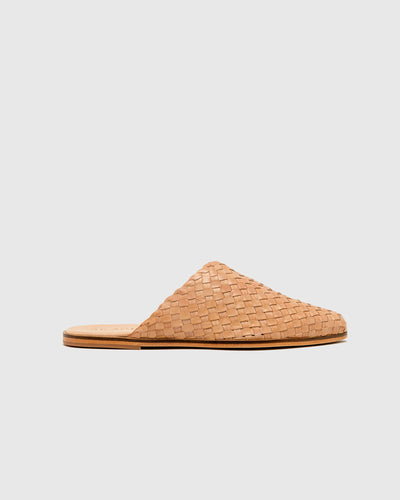 Caio Woven Flat in Nude