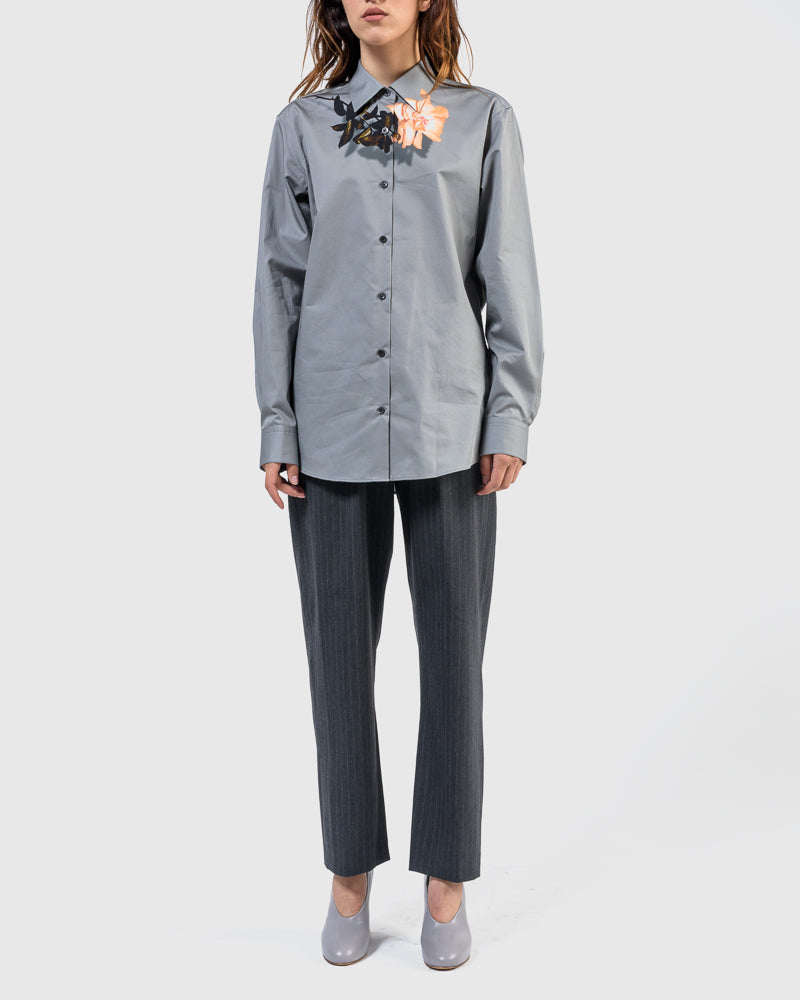 Clavelly Shirt in Grey by Dries Van Noten Woman at Mohawk General Store