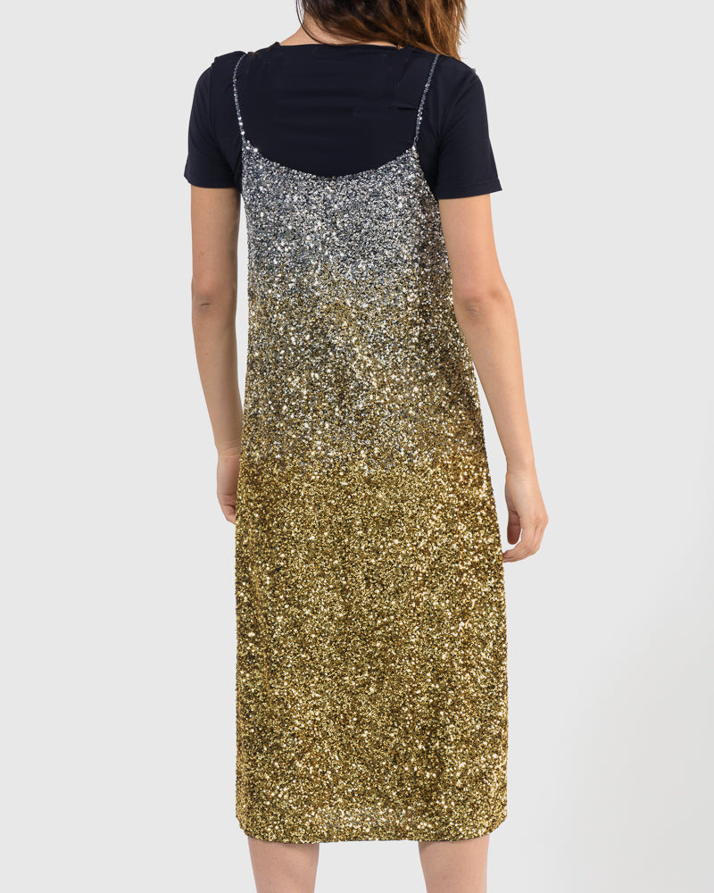 Daria Embellished Dress in Black Gold by Dries Van Noten Woman at Mohawk General Store