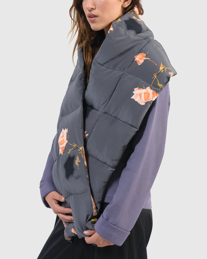 Felice Puffer Scarf in Grey by Dries Van Noten Woman at Mohawk General Store
