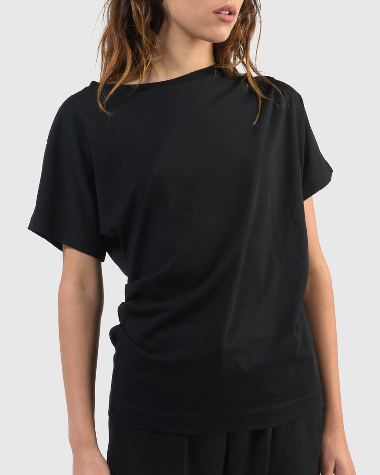 Hearl Jersey T-Shirt in Black