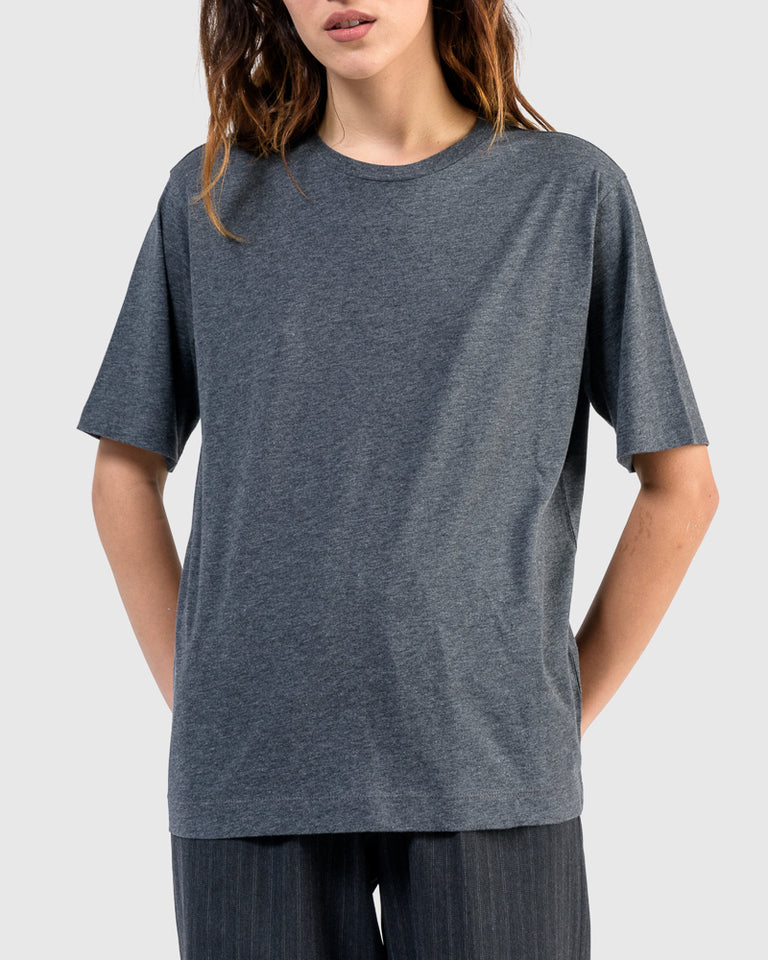 Hefiz T-Shirt in Grey Melange