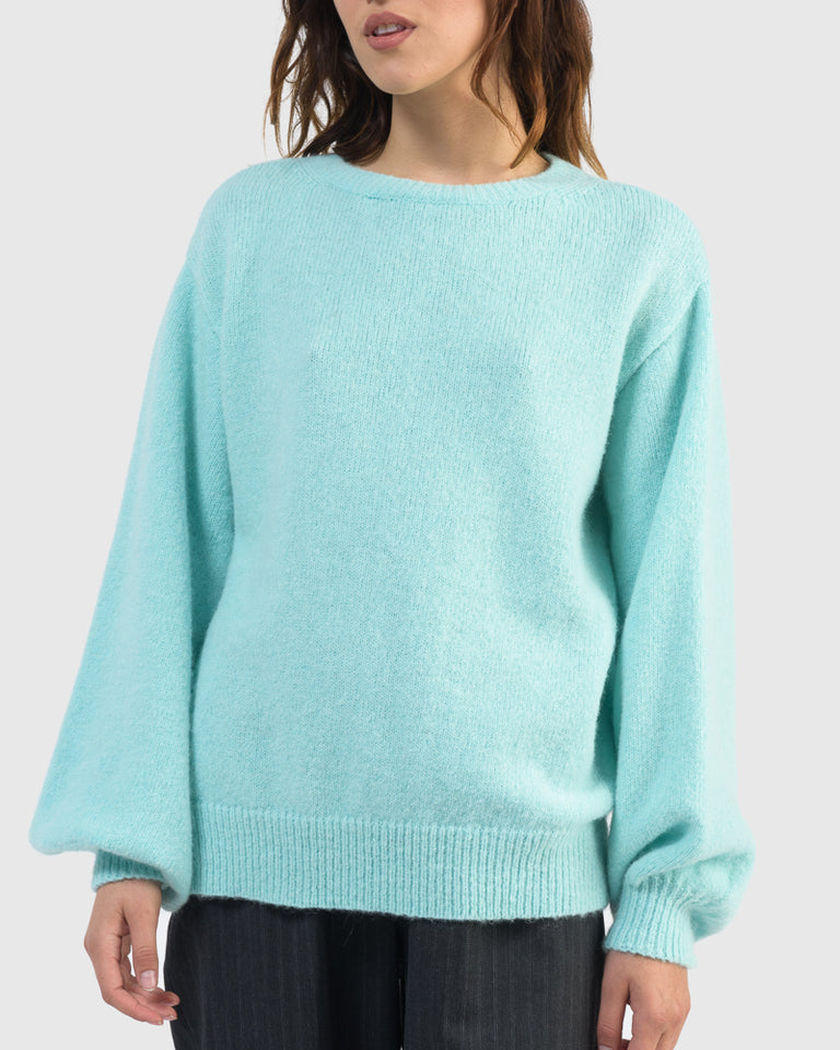 Tasche Sweater in Aqua