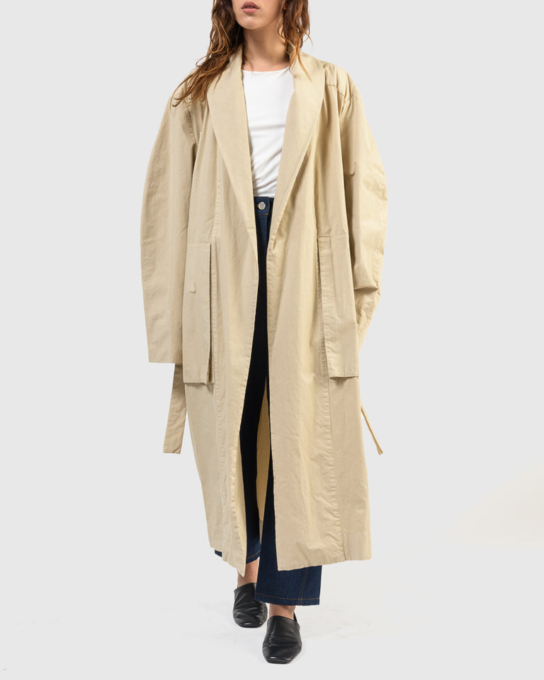 Maxi Coat in Mastic