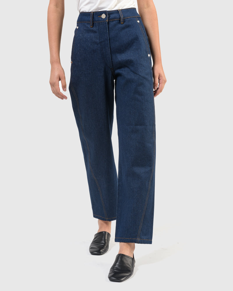 Twisted Pants in Indigo