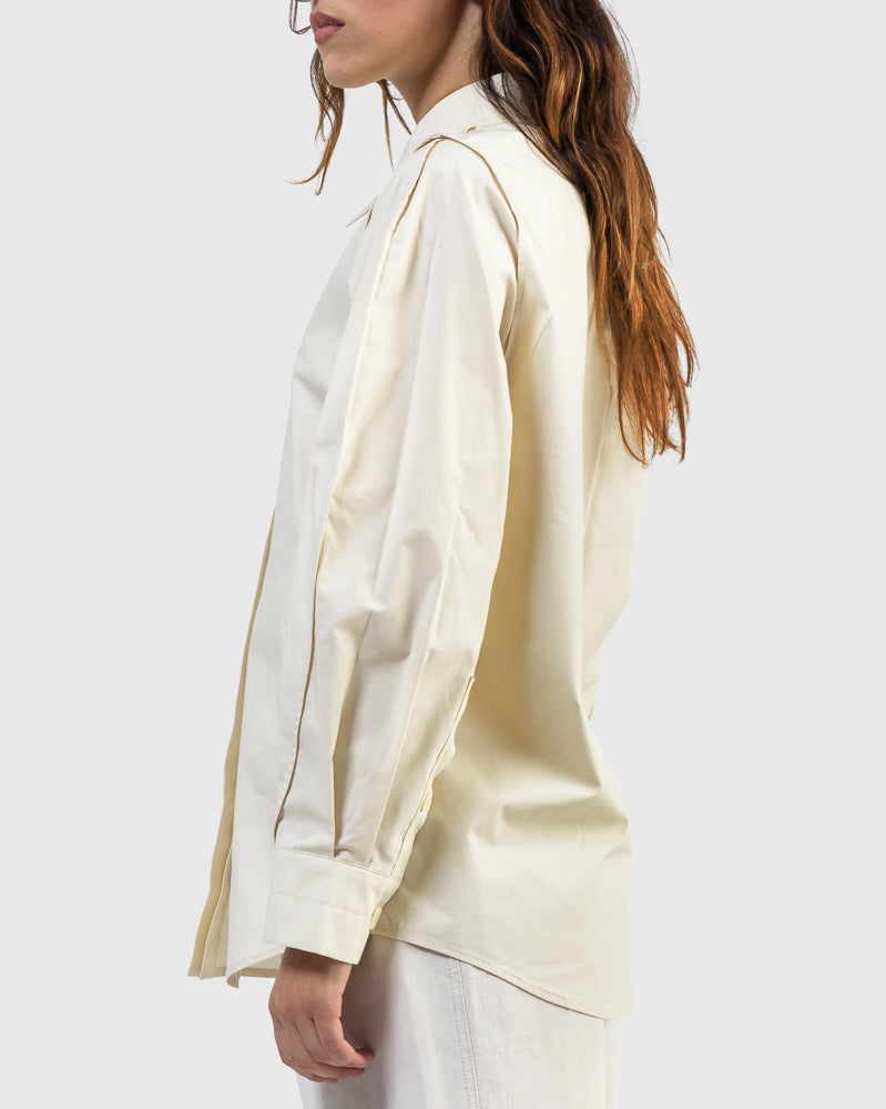 Over Sleeve Shirt in Cream