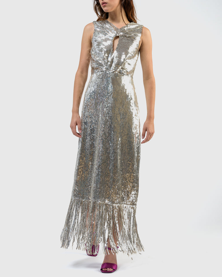 Petra Dress in Silver