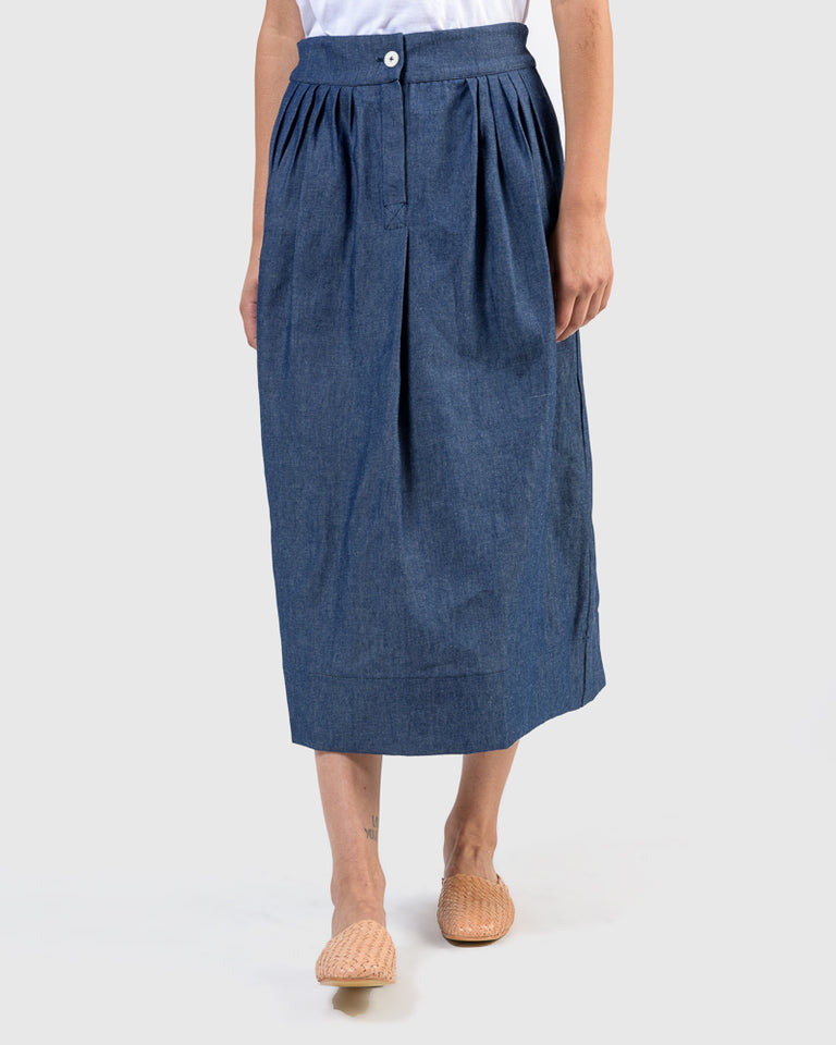 Nao Skirt in Denim