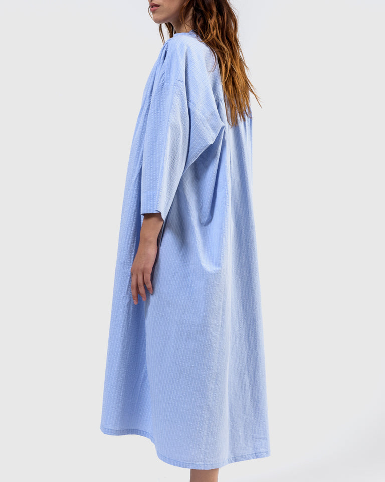 Shima Caftan in Blue Stripe
