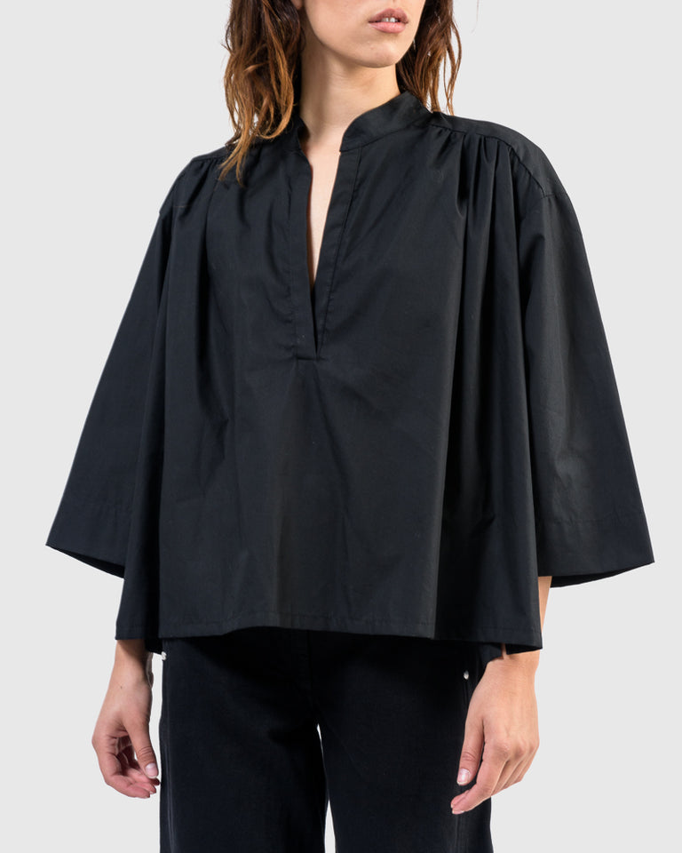 Shima Caftan Top in Black