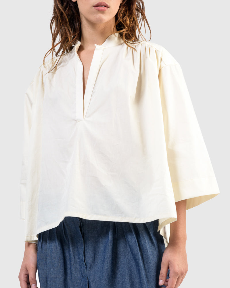 Shima Caftan Top in White