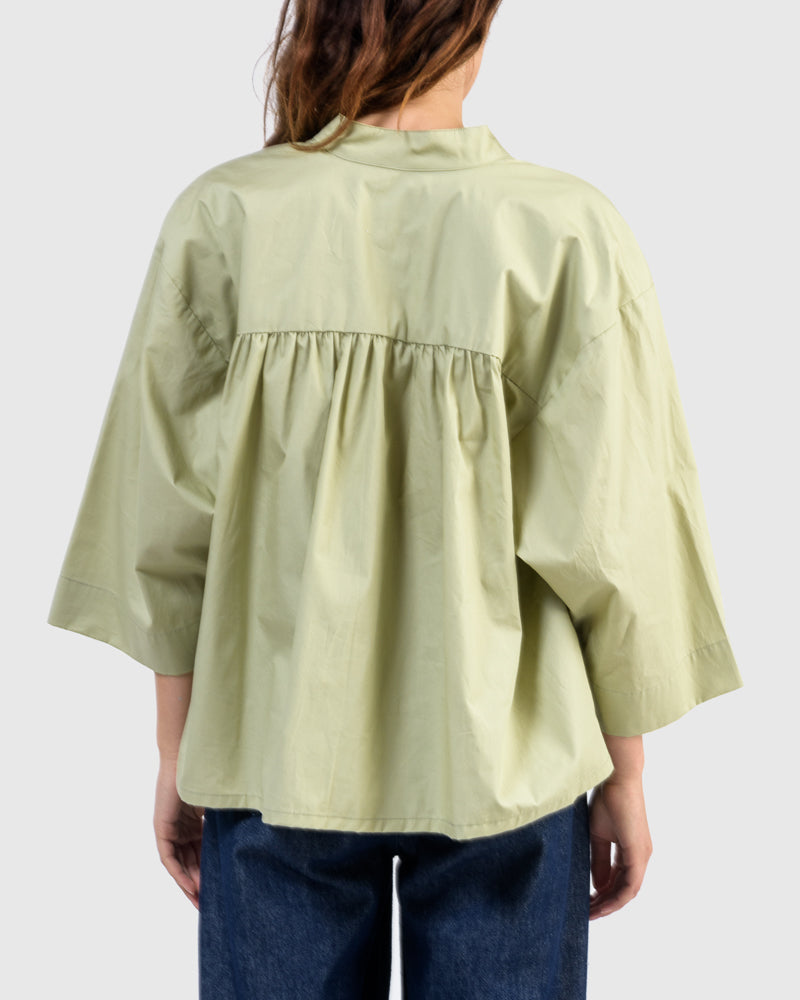 Shima Caftan Top in Light Green