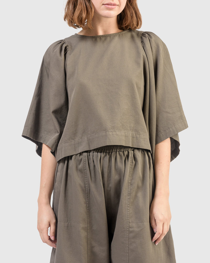 Iona Shirt in Peat by Ilana Kohn at Mohawk General Store