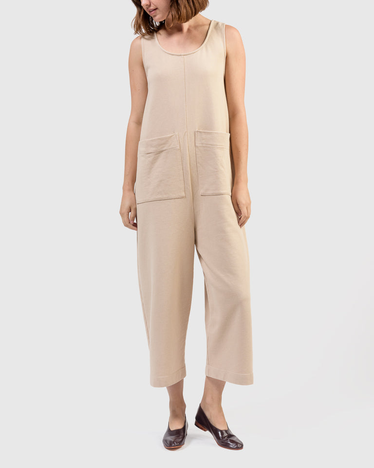 Wendy Jumpsuit in Toast