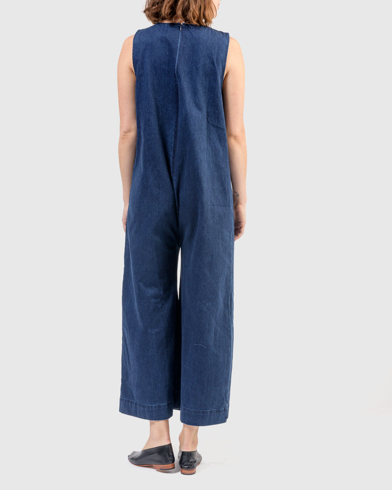 Harry Jumpsuit in Denim by Ilana Kohn at Mohawk General Store