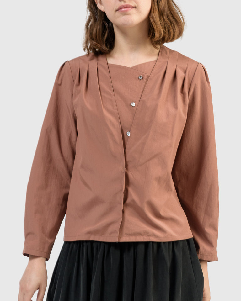 Cleo Top in Terracotta