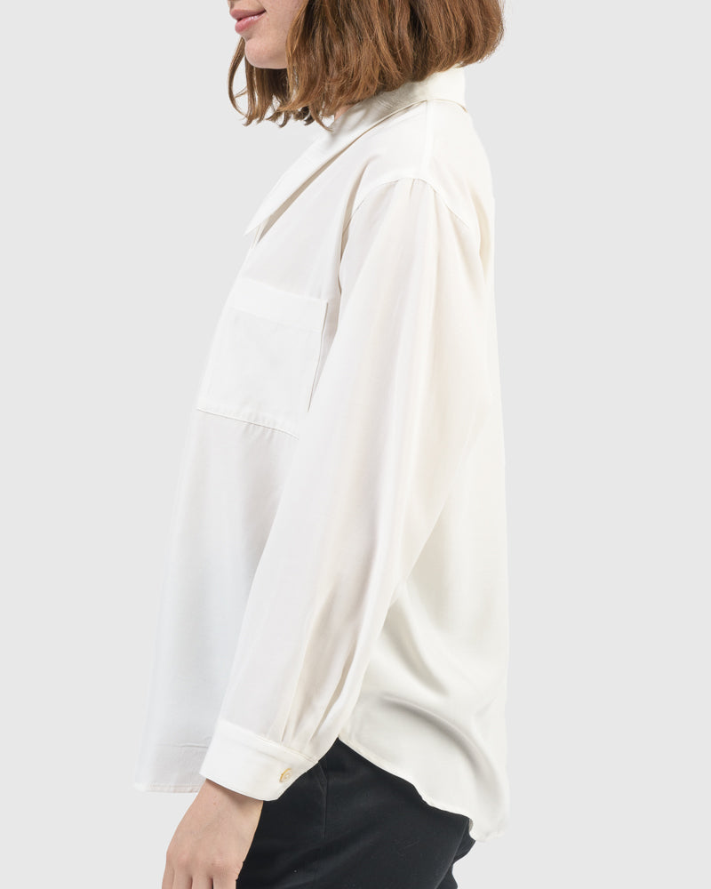 Henry Blouse in Off White by Jeana Sohn at Mohawk General Store