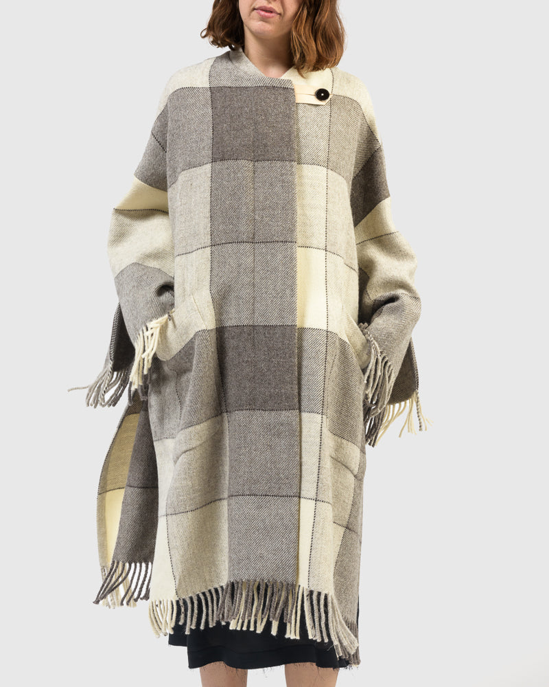 Luella Coat in Open Grey