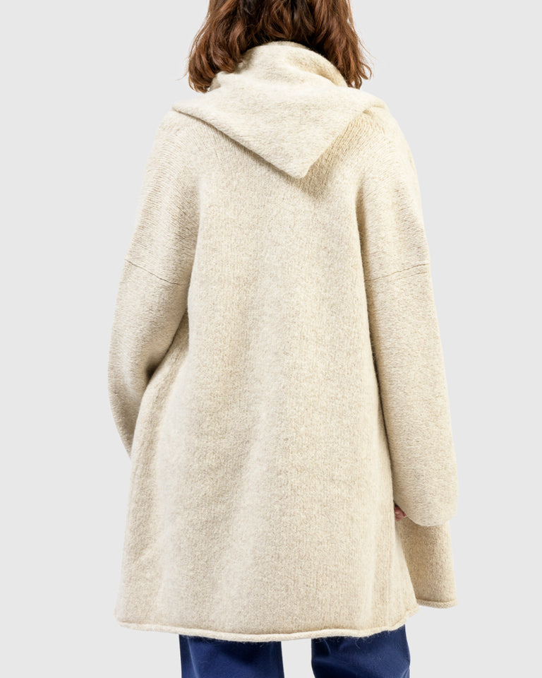 Capote Coat in Hessian