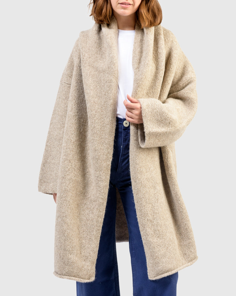 Capote Coat in Oatmeal