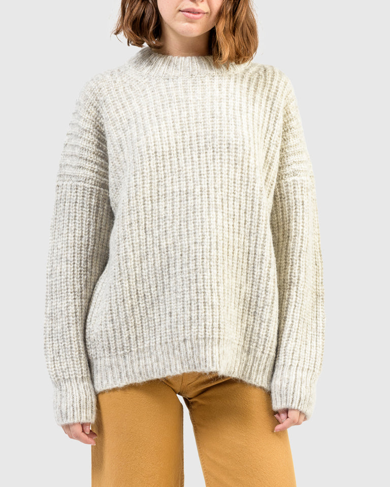 Fisherwoman Pullover in Natural Grey