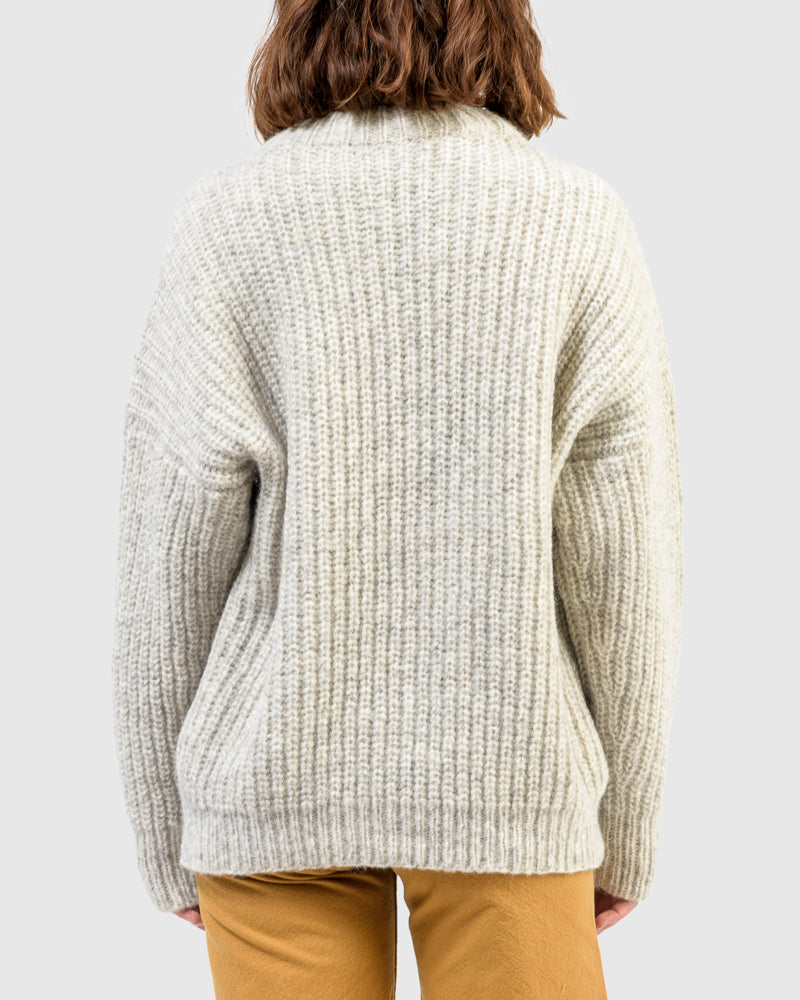 Fisherwoman Pullover in Natural Grey by Lauren Manoogian at Mohawk General Store