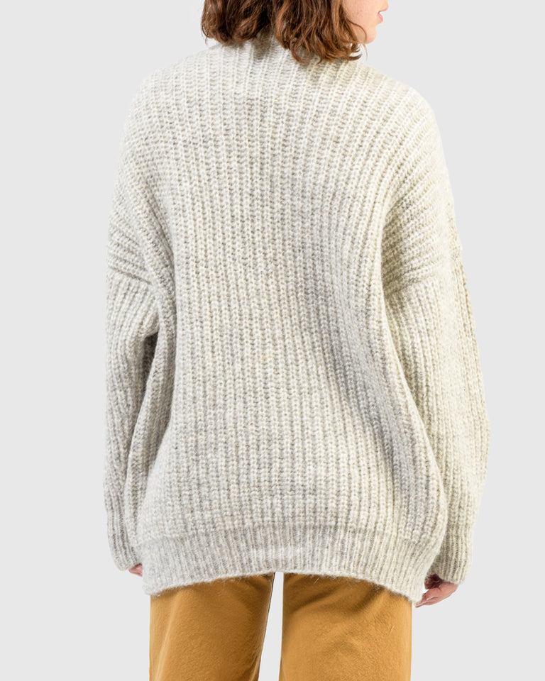 Grandma Cardigan in Natural Grey