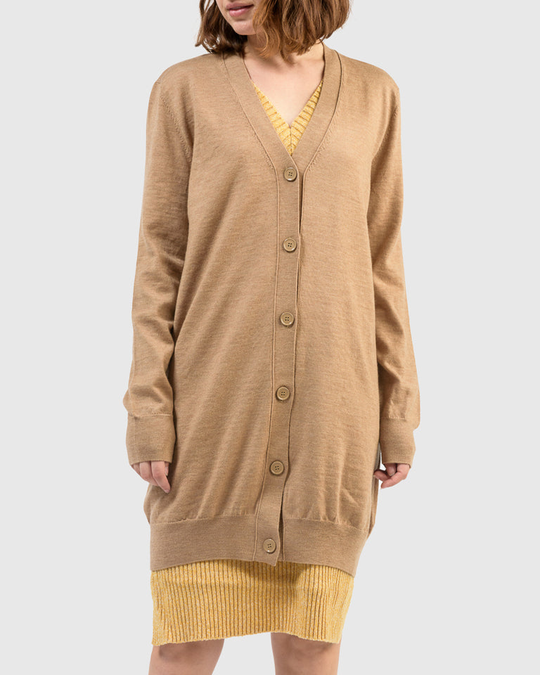 Cardigan Dress in Beige