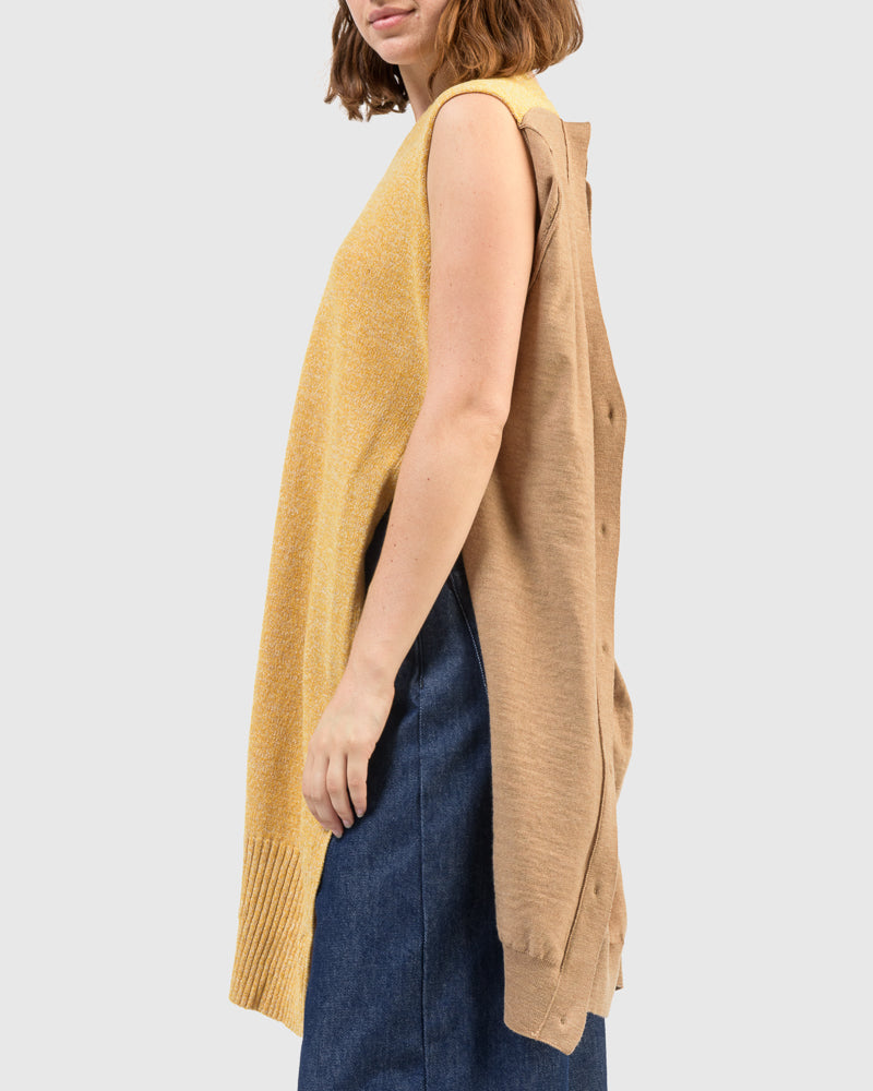 Cardigan Dress in Beige by MM6 Maison Margiela at Mohawk General Store