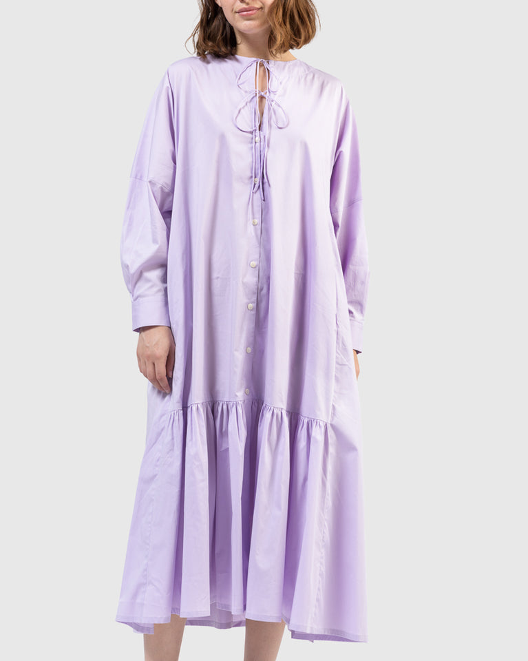 Nadine Tie Dress in Lilac
