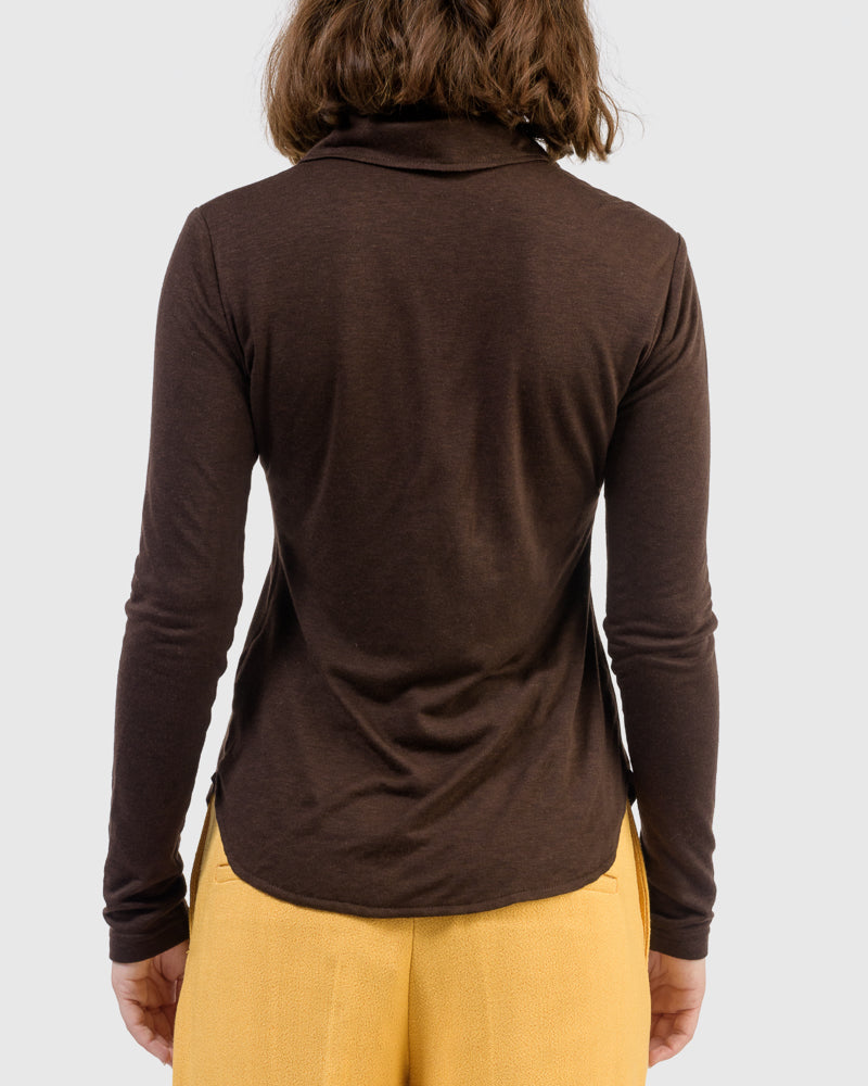 Kyoko Top in Dark Brown