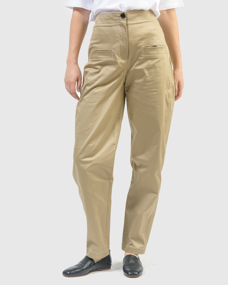 Jamie Cotton Work Pant in Khaki