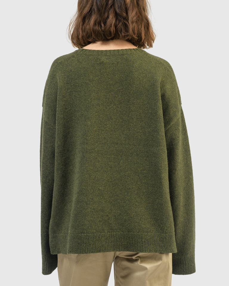 Theresa Pullover in Winter Moss
