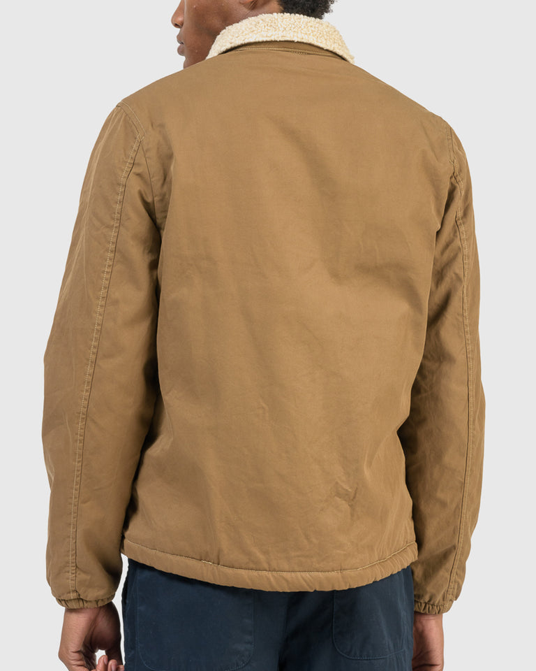 Sherpa Lined Warm-Up Jacket in Barley