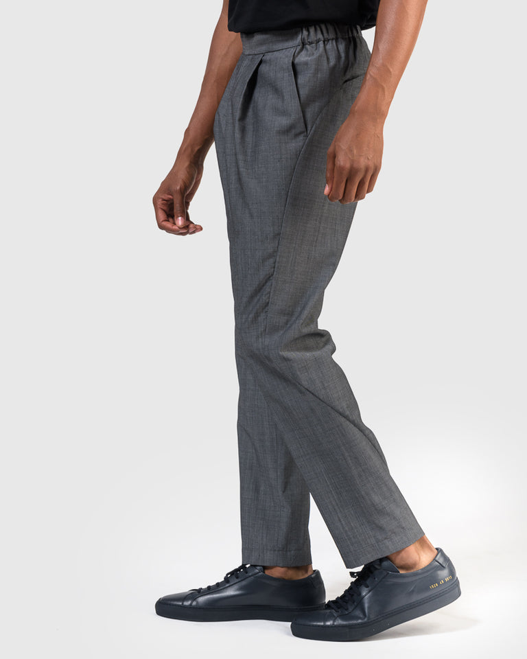 Wool Voile Pants in Grey