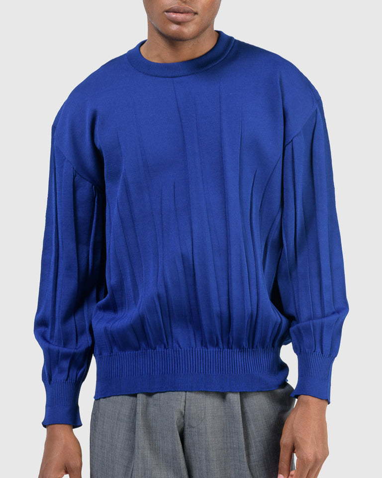 Wrinkle Knit in Blue