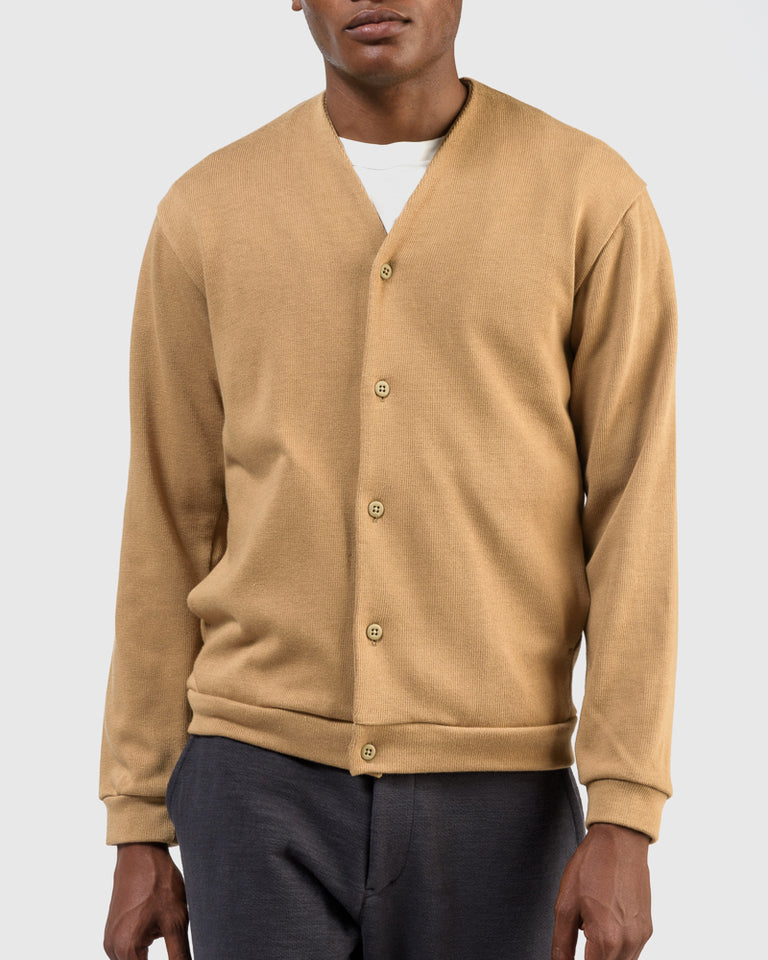 Sweat Cardigan in Beige