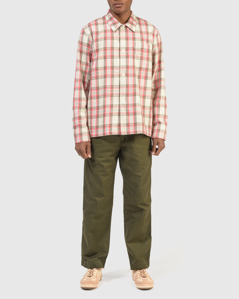 Box Shirt in Pink Check by Our Legacy at Mohawk General Store