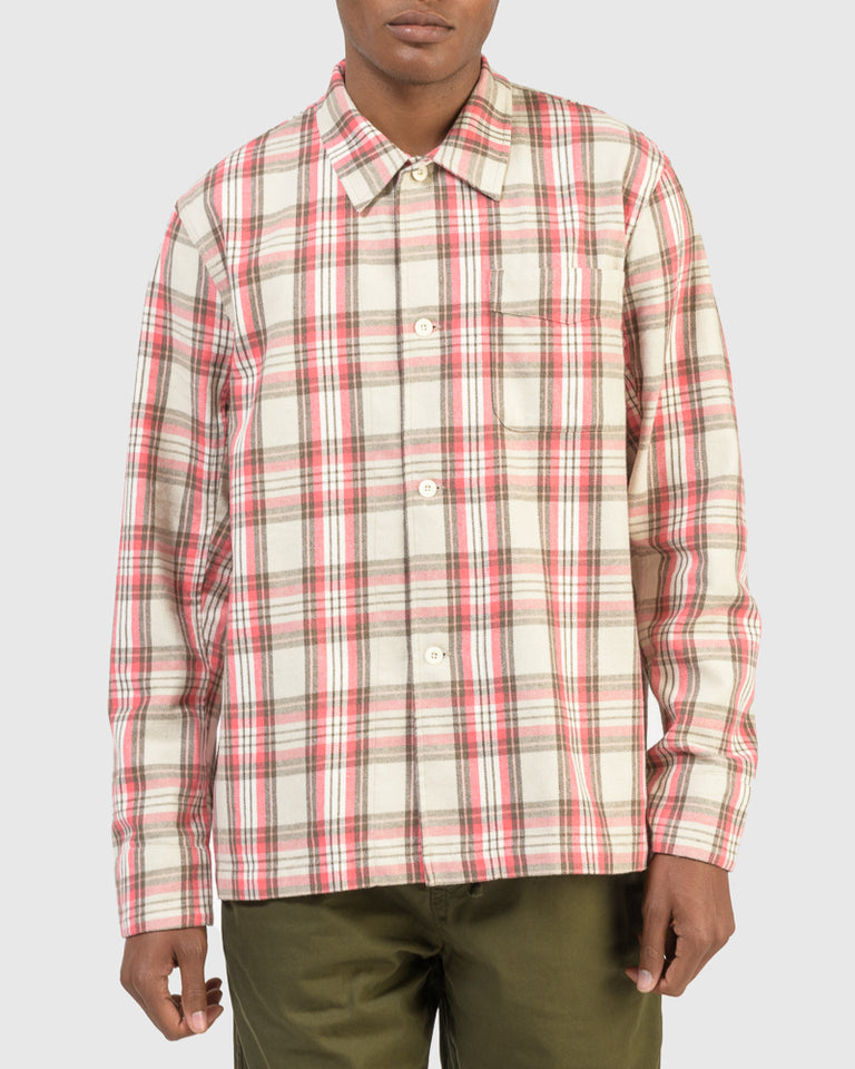 Box Shirt in Pink Check