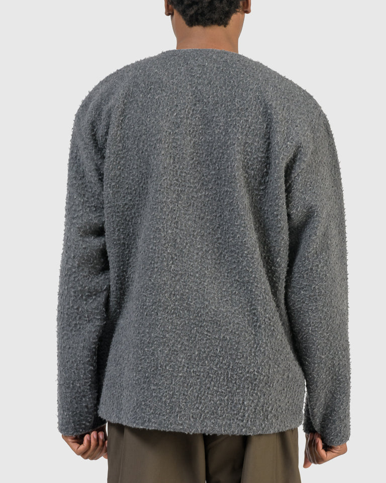 Cardigan Shaggy in Grey