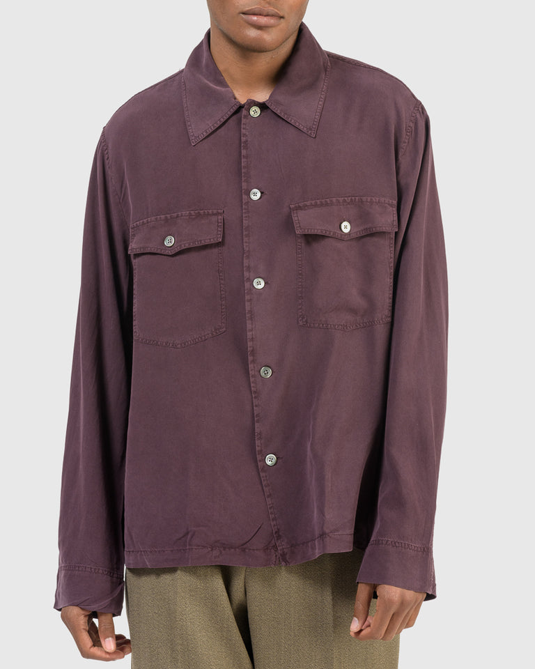 Evening Coach Shirt in Cherry
