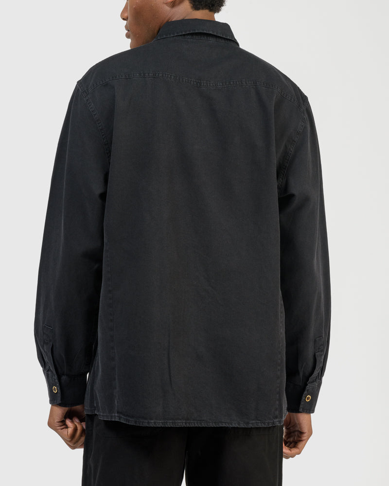 New Frontier Shirt in Black Denim