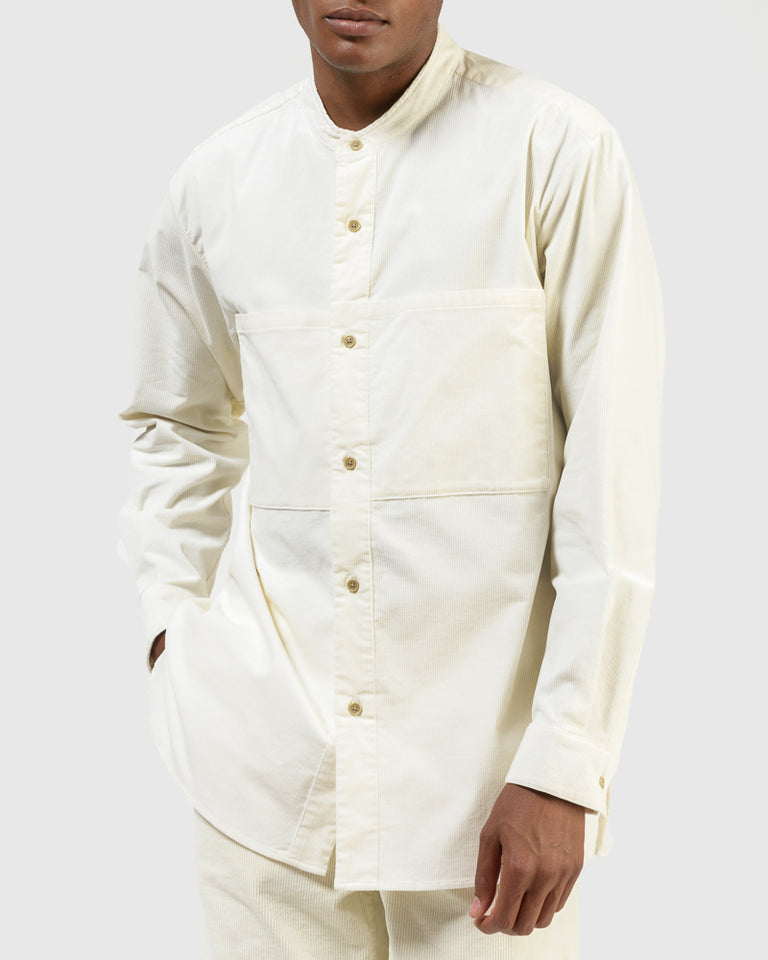 Corduroy Pocket Shirt in Off-White