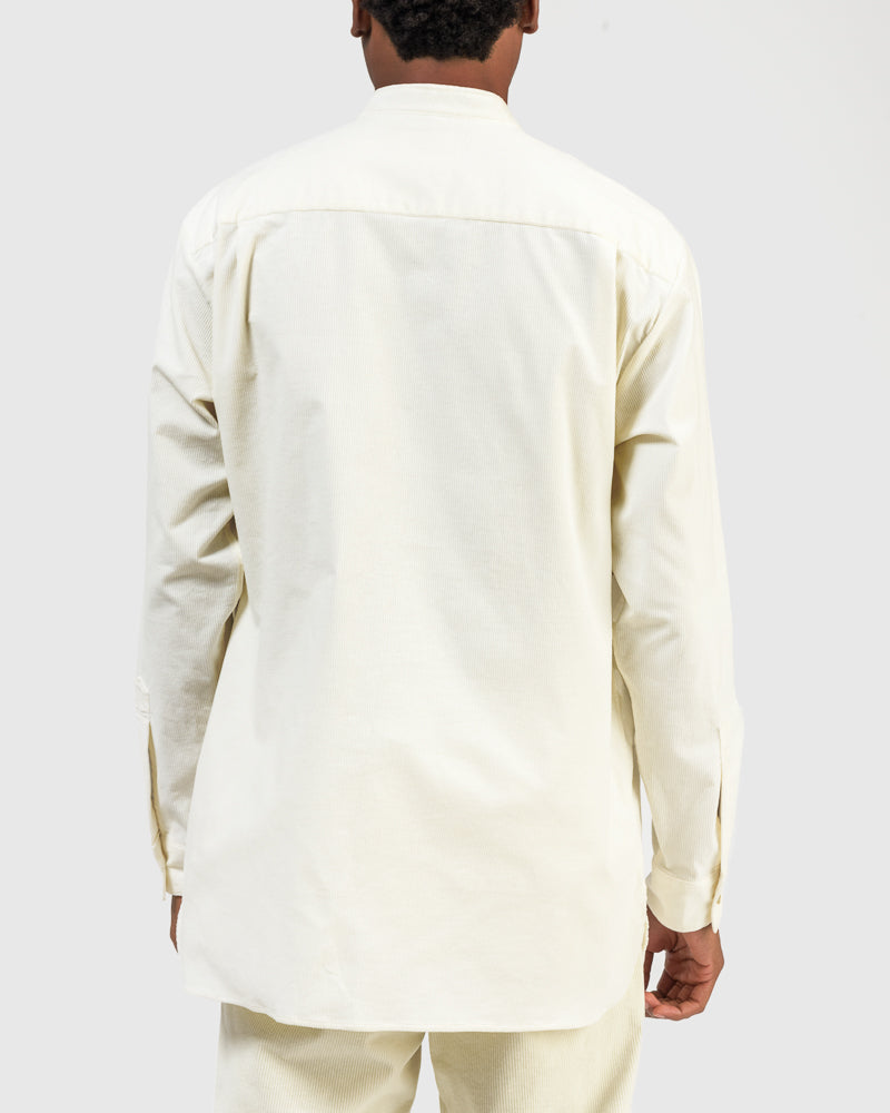 Corduroy Pocket Shirt in Off-White by Still By Hand at Mohawk General Store