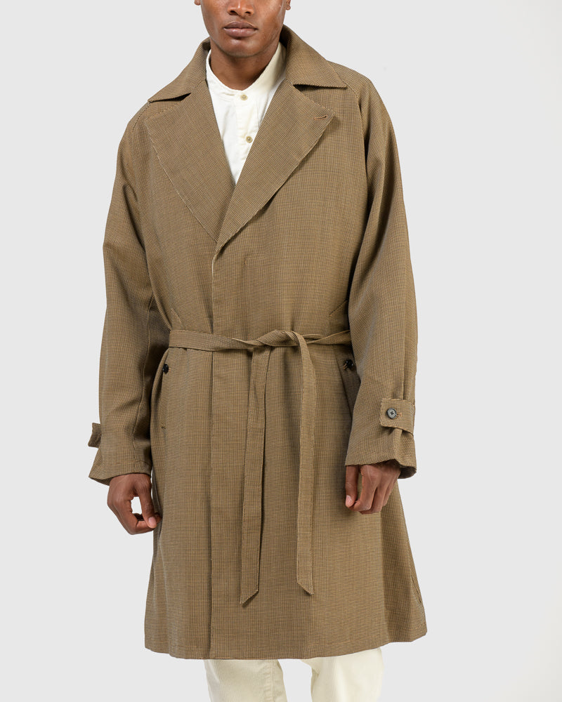 Original Check Trench Coat in Beige