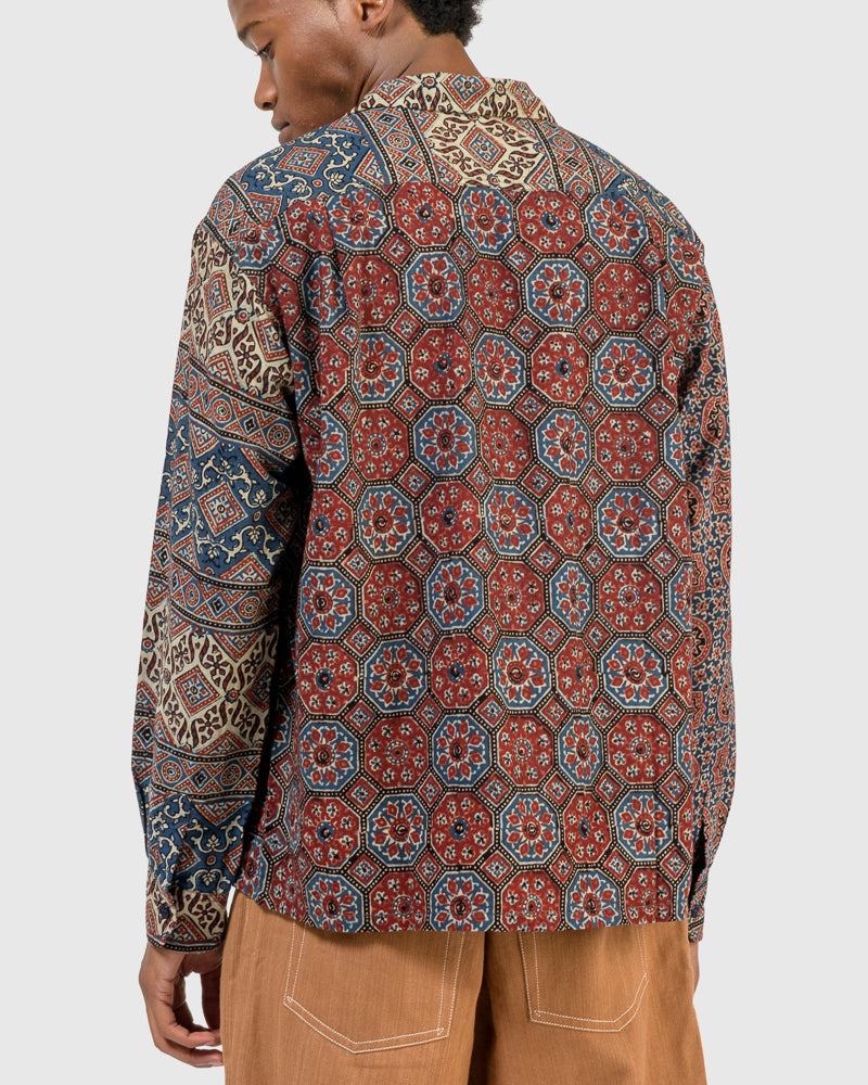 Snack Shirt in Ajrakh Mix