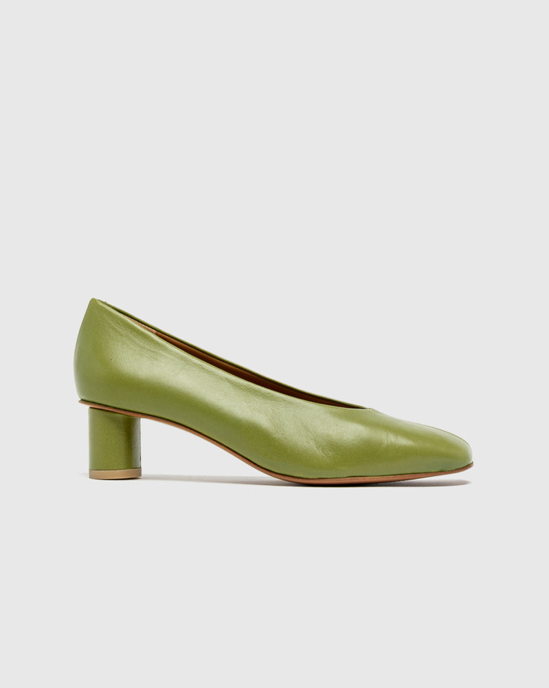 Camila Leather Pumps in Avocado