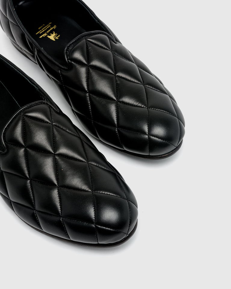 Quilting Opera Shoes in Black