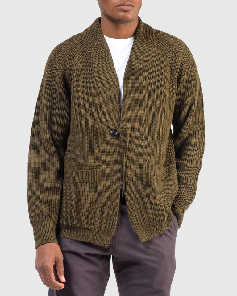 Signature Shawl Collar in Khaki
