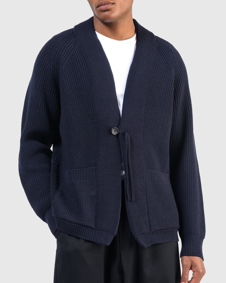 Signature Shawl Collar in Navy